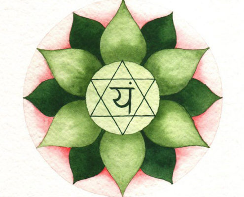 the symbol of Fourth Chakra Heart